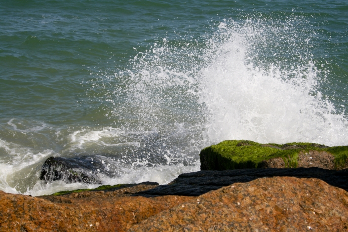Gulf Spray Rocks Water