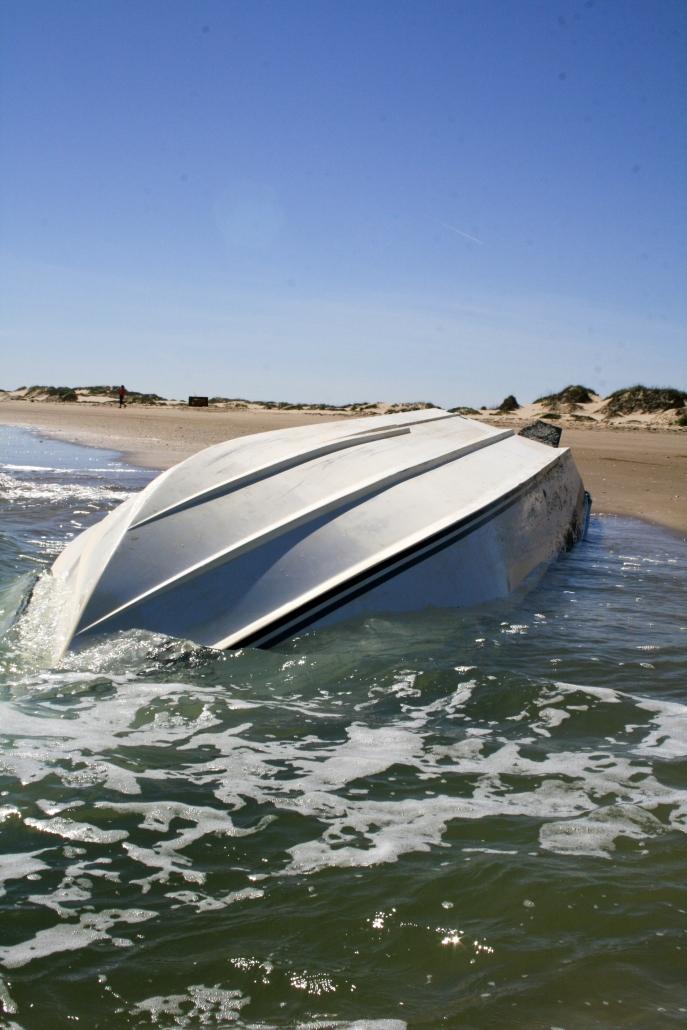 Boat Capsize Beach Gulf SPI Texas