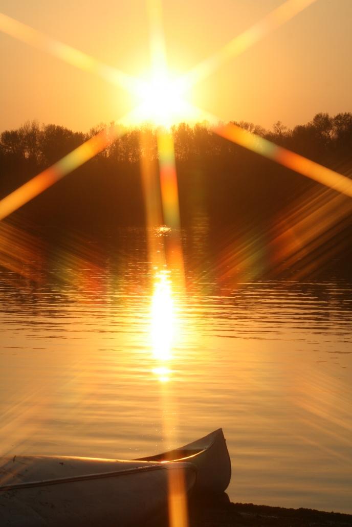 Canoe Lake Sunset Silhouette