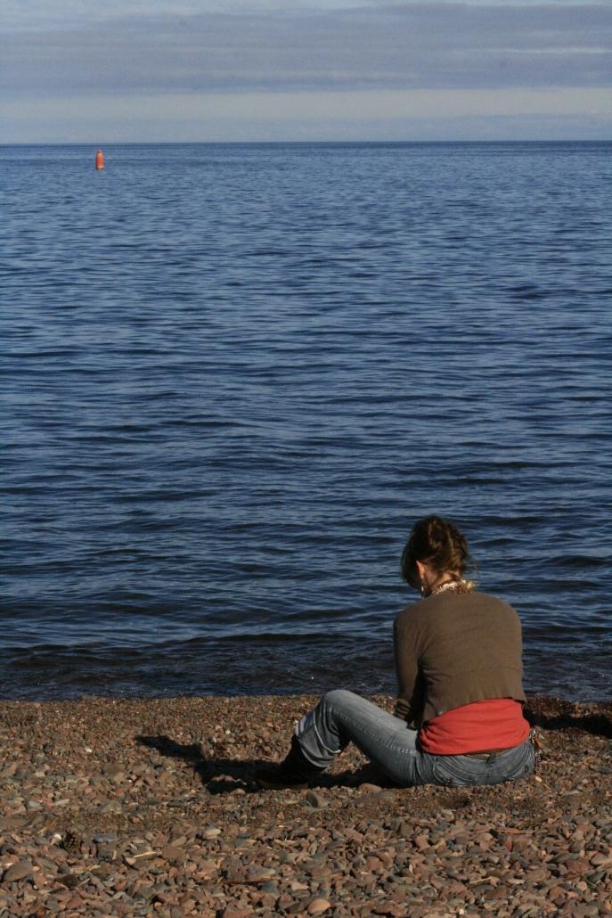 Fall Lake Superior Duluth Woman People