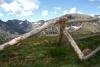 Fence Mountains Colorado Blue Sky