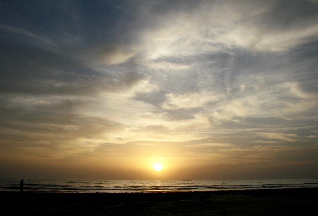 Sunset Texas SPI South Padre Island Beach Clouds Sky