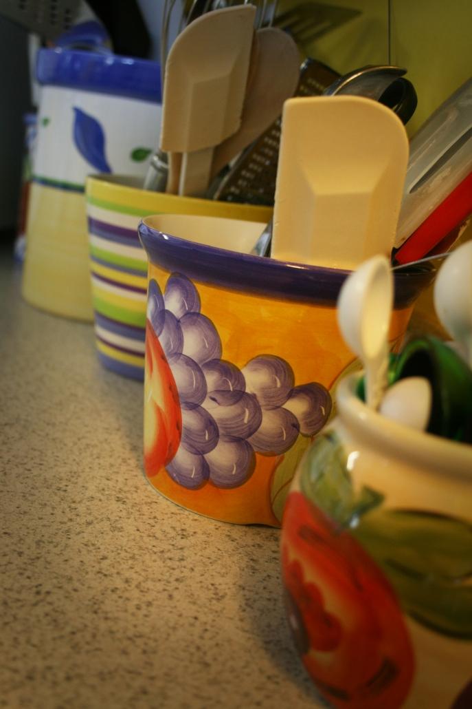 Kitchen Jars Colors Crocks